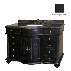 "48"" Arlington Single Sink Vanity w/ Black Top - Ebony"