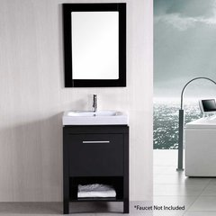 "24"" New York Single Sink Bathroom Vanity - Espresso"