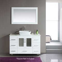 "48"" Stanton Single Vessel Sink Bathroom Vanity - White"