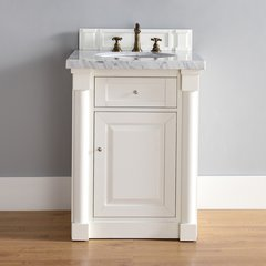 "26"" New Haven Single Vanity w/ Santa Cecilia Top-Cott White"