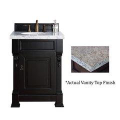 """26"""" Brookfield Vanity w/ Santa Cecilia Top - Antique Black"""