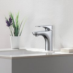 Aquila 1 Handle Single Hole Bathroom Faucet - Chrome