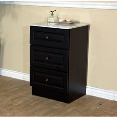 "20"" Floor Cabinet - Dark Mahogany/White Top"