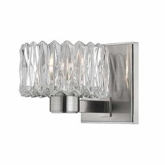 Anson 1 Light Bathroom Sconce - Satin Nickel