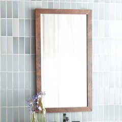 "28"" x 40"" Milano Wall Mount Mirror - Antique Copper"