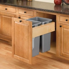 4WCTM-RM Series Top Mount Double Pullout Waste Containers by Rev-A-Shelf