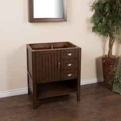 "29"" Single Sink Cabinet Only w/o Top - Sable Walnut"