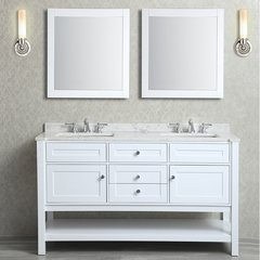 "36"" Seacliff Mayfield Double Sink Vanity - Alpine White"