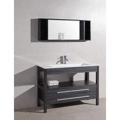"48"" A-5243 Single Vanity w/ Pheonix Stop Top-Charcoal Gray"