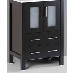 "24"" A-B-24MC Single Vanity Cabinet Only-Espresso"