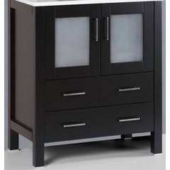 "30"" A-B-30MC Single Vanity Cabinet Only-Espresso"