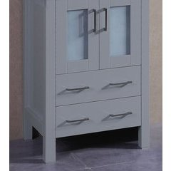 "24"" A-GR-24MC Single Vanity Cabinet Only-Gray"