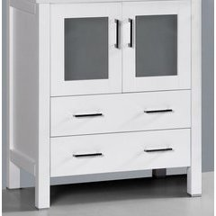 "30"" AWH-30MC Single Vanity Cabinet Only-White"