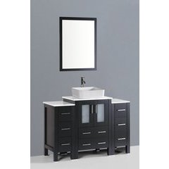 "48"" AB124 Single Vanity w/ Pheonix Stone Top-Espresso"