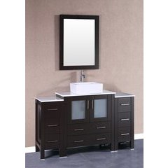 "54"" AW130 Single Vanity w/ Pheonix Top-Espresso"