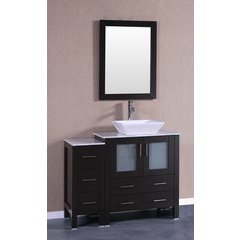 "42"" AW130 Single Vanity w/ Carrara White Top-Espresso"