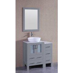 "36"" AGR124 Single Vanity w/ Carrara White Top-Gray"
