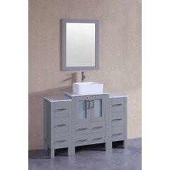 "48"" AGR124 Single Vanity w/ Carrara White Top-Gray"