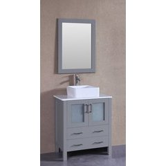 "30"" AW130 Single Vanity w/ Pheonix Stone Top-Gray"