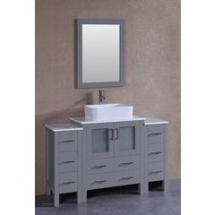 "54"" AW130 Single Vanity w/ Pheonix Top-Gray"