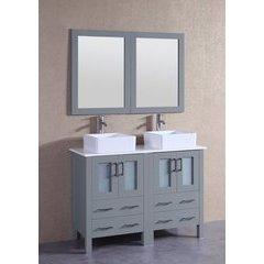 "48"" AGR224CBEPS Double Vanity w/ Pheonix Stone Top-Gray"