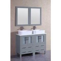 "48"" AGR224RC Double Vanity w/ Pheonix Stone Top-Gray"