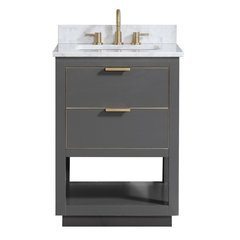"25"" Allie Combo Vanity - Carrara White Marble Top"