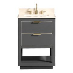 "25"" Allie Combo Vanity - Crema Marfil Marble Top"
