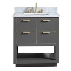 "31"" Allie Combo Vanity - Carrara White Marble Top"