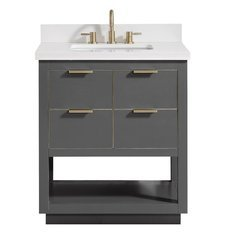 "31"" Allie Combo Vanity - White Quartz Top"