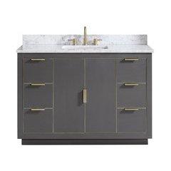"49"" Austen Combo Vanity - Carrara White Marble Top"