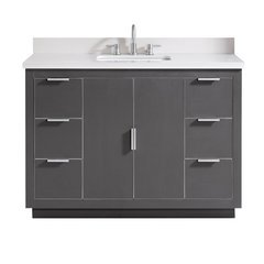 "49"" Austen Combo Vanity - White Quartz Top"
