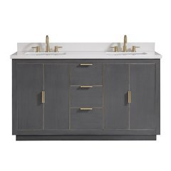 "61"" Austen Combo Vanity - White Quartz Top"