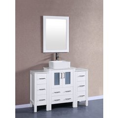 "48"" AW124 Single Vanity w/ Pheonix Stone Top-White"