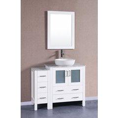 """42"""" AW130 Single Vanity w/ Carrara White Top-White"""