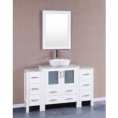 """54"""" AW130 Single Vanity w/ Carrara White Top-White"""