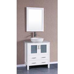"""30"""" AW130 Single Vanity w/ Carrara White Top-White"""