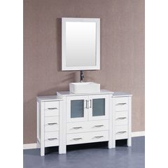 "54"" AW130 Single Vanity w/ Pheonix Top-White"