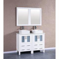 "48"" AW224CBEPS Double Vanity w/ Pheonix Stone Top-White"