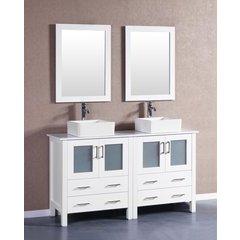 "60"" AW230CBEPS Double Vanity w/ Pheonix Stone Top-White"