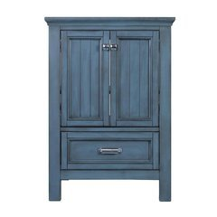 24 Inches Free Standing Brantley Vanity Only - Harbor Blue