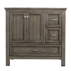 36 Inches Free Standing Brantley Vanity Only - Distressed Grey