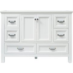 Brantley 48 Inch Single Sink Farmhouse Vanity Only - White