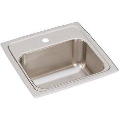 Lustertone Classic 15 Single Bowl Drop-in Bar Sink - Lustrous Satin