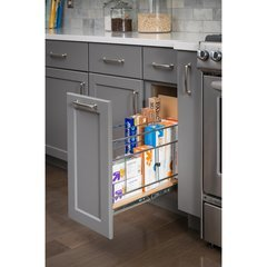 5 Inch Base Cabinet Pullout with Built in Tray Divider