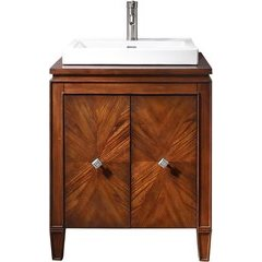 "25"" Brentwood Single Vanity - Veneer Wood Top"