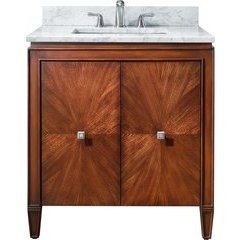 "31"" Brentwood Single Vanity - Carrera White Marble Top"