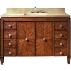 "49"" Brentwood Single Vanity - Galala Beige Marble Top"