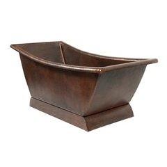 67 Inch Copper Canoa Single Slipper Bathtub - Oil Rubbed Bronze