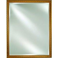 "Basix 16"" Mirrored Medicine Cabinet -Antique Gold"